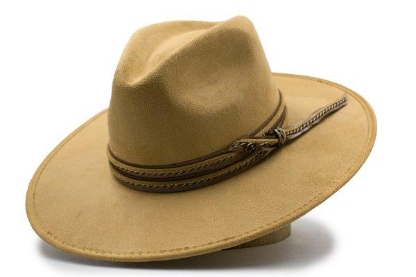 Sombrero De Gamuzina Camel