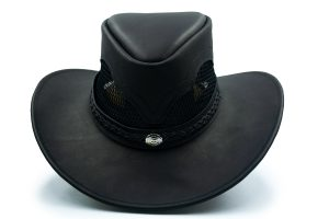 Sombrero de Cuero Negro Australiano La Nutria