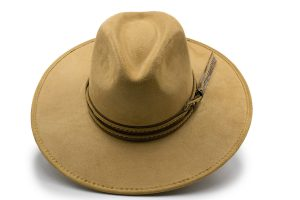 Sombrero de Gamuzina Impermeable Cafe Claro