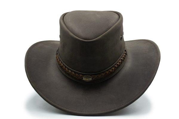 Sombrero de Piel Chocolate Urbano